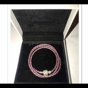 Chamilia leather bracelet.